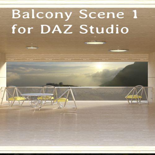 Balcony Scene 1 for DAZ Studio