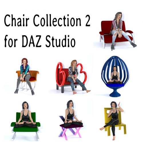 Chair Collection 2 for DAZ Studio