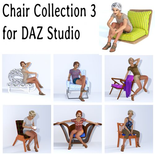 Chair Collection 3 for DAZ Studio