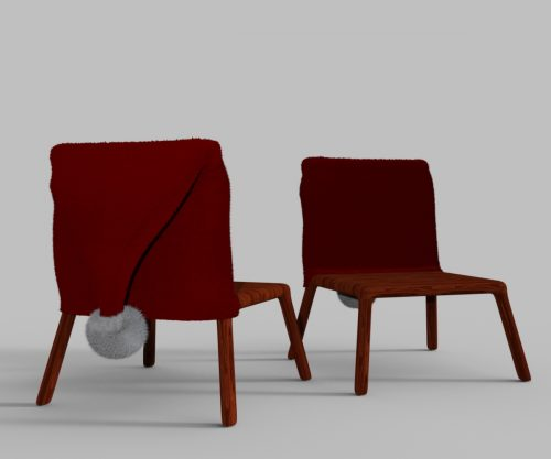 Chair with Santa cover for DAZ Studio