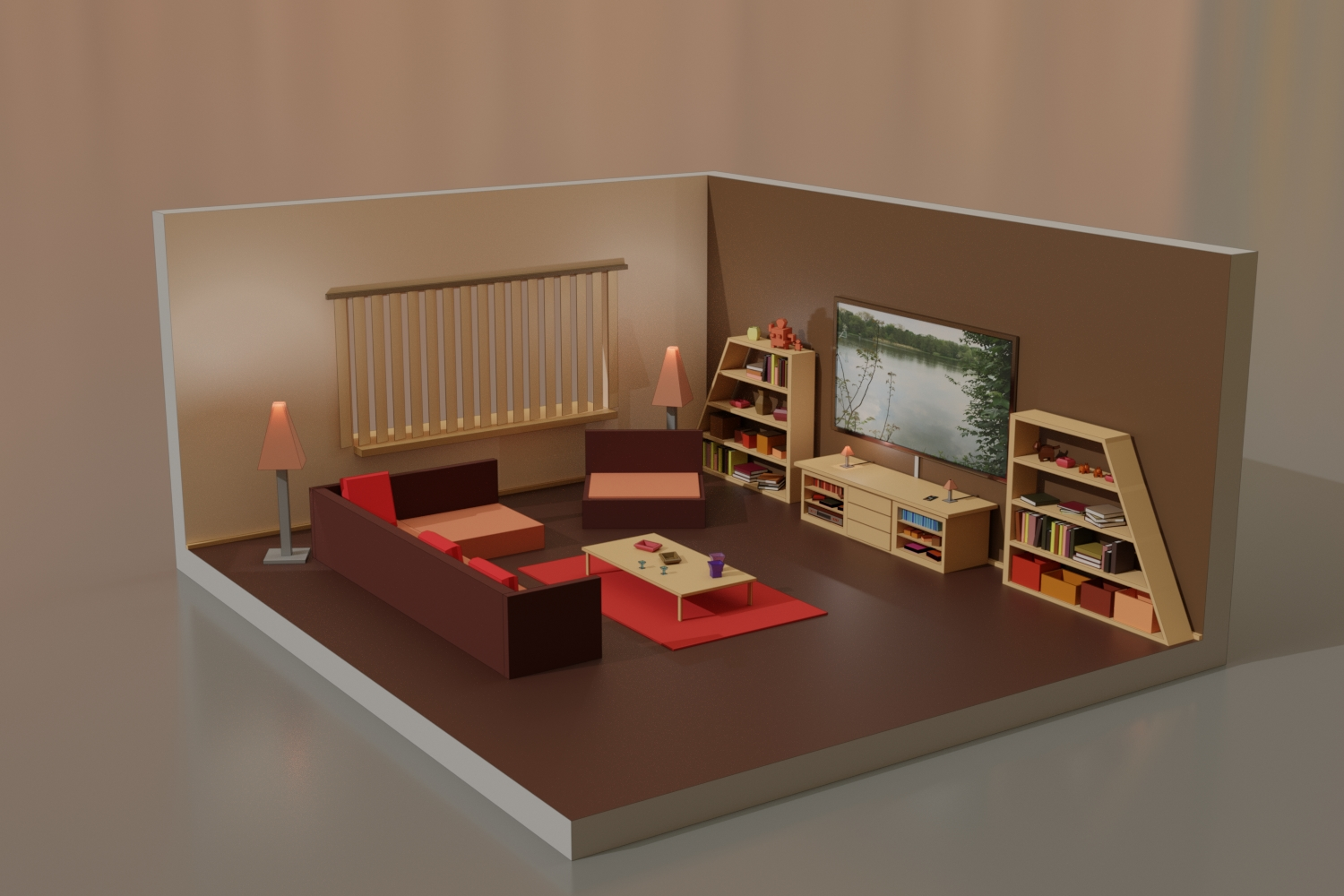 Low Poly Living Room