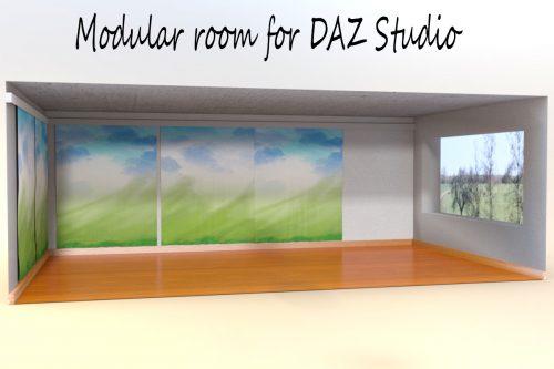 Modular Room for DAZ Studio
